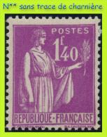 N° 371 TYPE PAIX 1937-39 - N** SANS TRACE DE CHARNIÈRE - - 1932-39 Paix