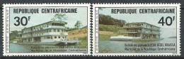 """Centrafrique Aerien YT 136 & 137 (PA) """" Bateaux De Plaisance """" 1976 Neuf** - Central African Republic"""