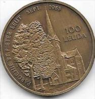 100 LEUDA 1983 LEEUW ST PIERRE - Jetons De Communes