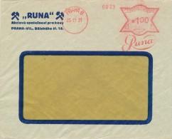 "K6366 - Czechoslovakia (1931) Praha 6: ""Runa"" (logo); RUNA Joint Stock Company For Metals; Letter, Tariff: 1,00 Kc - Factories & Industries"