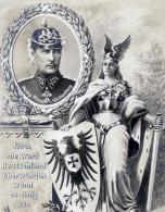 DE 1 ORIGINAL CPA - Germania - Albrecht Von Württemberg - Noch Nie Ward Deutschland überwunden ... - War 1914-18
