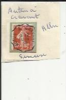 1 Timbre_ Tampon Convoyeurs-_Autun--a--Cravant_Semeuse 10 Cts (1)__Aller - Poststempel (Einzelmarken)