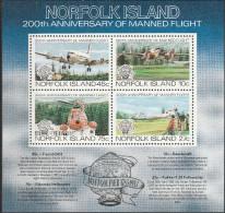 """Norfolk-Inseln Block 5(306-9) """"200 Jahre Luftfahrt"""" MNH / ** / Postfrisch - Norfolkinsel"""