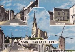 SAINT JEAN La POTERIE - Rue Principale, Rue De La Mairie, Le Centre, Église, Moulin à Vent (GTw-c743) - Allaire