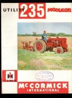 Mc CORMICK 235 MODULOR Machine Agricoles , Dépliant Publicitaire Vendu Chez Mr P.LISORES à VIMOUTIERS 61 - Tracteurs