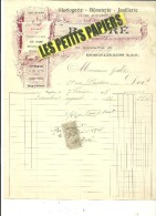 95 - Val-d'oise - ENGHIEN-LES-BAINS - Facture HURE - Horlogerie, Bijouterie, Joaillerie – 1908 - REF 226 - 1900 – 1949