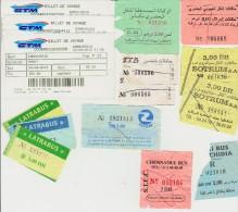 Petit Lot Hétéroclite Esitériophile Tickets Transports Bus Du Maroc Années 2000 > - Bus