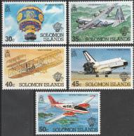 "Salomon-Inseln 495-9 ""200 Jahre Luftfahrt"" MNH / ** / Postfrisch - Salomoninseln (Salomonen 1978-...)"