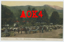 Gloria Viktoria Album Serie 57/5 15 Einfordern Von Bauernwagen. Ostfront Feldkappe Kuk Polen Karpathen - Guerre 1914-18