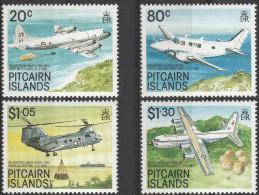 """Pitcairn-Inseln 342-5 """"Luftfahrzeuge"""" MNH / ** / Postfrisch - Briefmarken"""