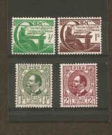 IRELAND 1943 GAELIC LEAGUE ANNIVERSARY SET AND 1944 TERCENTENARY SET SG 129/130 LMM SG 133/134 UNMOUNTED MINT Cat £4.60 - 1937-1949 Éire