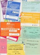 Petit Lot Hétéroclite Esitériophile Tickets Transports Ferry Gibraltar, Ryanair, Lac Côme, Capri Venise Années 60 > 2000 - Billetes De Transporte