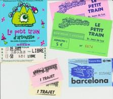 Petit Lot Hétéroclite Esitériophile Tickets Transports Trains Touristiques Années 2000 > - Railway