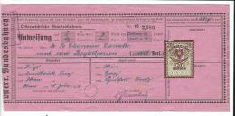 OESTERREICHISCHE STEMPELMARKE 20 Groschen , Billet Train Bagages 1926, Oesterreichische Bundesbahnen - Titres De Transport