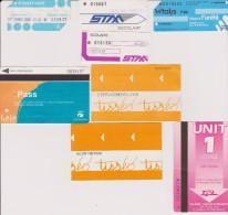 Petit Lot Hétéroclite Esitériophile Tickets Transports Bus France Années 2000 > - Bus