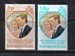 Z838A - BRITISH ANTARTIC TERRITORY, 1973 : Royal Wedding Ann And Mark  *** - Nuovi