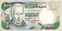 Billets - Colombie - 200 Pesos Oro - 1985 -  Neuf - Non Circulé - - Colombie