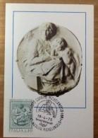 Cartolina Maximum Card 106 - Michelangelo Buonarroti - Tondo Pitti Firenze Museo Del Bargello - Sculture
