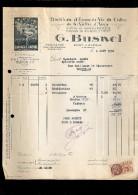 FACTURE CALVADOS BUSNEL PÈRE & FILS à PONT L'ÉVÊQUE 14  , Autographe Mr LOGRE CAFÉ à TROUVILLE14 - Alimentare