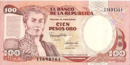 Billets - Colombie - 100 Pesos Oro - 1991 -  Neuf - Non Circulé - - Colombia