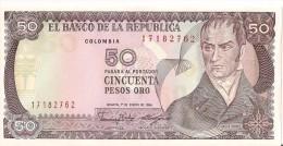 Billets - Colombie - 50 Pesos Oro - 1986 -  Neuf - Non Circulé - - Colombia