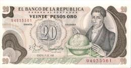 Billets - Colombie - 20 Pesos Oro - 1981 -  Neuf - Non Circulé - - Colombie