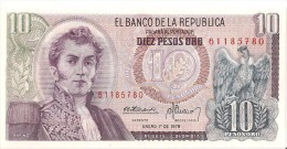 Billets - Colombie - 10 Pesos Oro - 1978 -  Neuf - Non Circulé - - Colombie