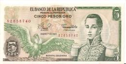 Billets - Colombie - 5 Pesos Oro - 1980 -  Neuf - Non Circulé - - Colombie