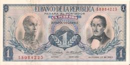Billets - Colombie - 1 Peso Oro - 1963 -  Neuf - Non Circulé - - Colombia