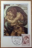 Cartolina Maximum Card 108 - Michelangelo Buonarroti - Particolare Affresco Del Diluvio Universale - Belle-Arti