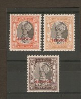 INDIA - JAIPUR 1943/1944 OFFICIALS ¾a, 2a, 8a SG O24, O26, O29 MOUNTED MINT Cat £12.75 - Jaipur