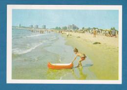 300512 / Slanchev Briag / Sunny Beach - BEACH , NUDE PEOPLE BOY BOAD , Bulgaria Bulgarie Bulgarien - Bulgaria