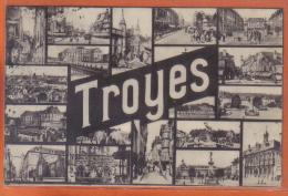 Carte Postale 10. Troyes Multi-vues  Trés Beau Plan - Troyes