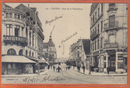 Carte Postale 10. Troyes Rue De La République   Trés Beau Plan - Troyes