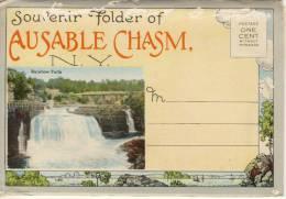 NY - AUSABLE CHASM, Souvenir Folder,  Carnet, 27 Different Views,  Unused - NY - New York