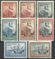 S.Marino 1942, Riconsegna Ad ARbe Della Bandiera (*), 8 Valori Di 10 - San Marino