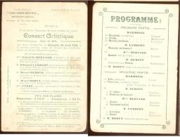 Aiseau  Rare Carte Postale Programme  1908 - Aiseau-Presles