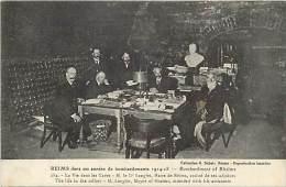 - Depts Divers - Ref- EE290- Marne - Reims - Vie Dans Les Caves - Langlet Maire Et Adjoints - Theme Guerre 1914-18 - - Reims