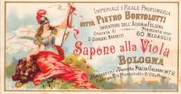 """04859 """"DITTA PIETRO BORTOLOTTI - BOLOGNA - SAPONE ALLA VIOLA"""" ETICHETTA ORIGINALE PER COSMESI. - Etichette"""