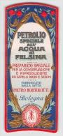 """04860 """"DITTA PIETRO BORTOLOTTI - BOLOGNA - PETROLIO SPECIALE ALL'ACQUA DI FELSINA"""" ETICHETTA ORIGINALE PER COSMESI. - Etichette"""