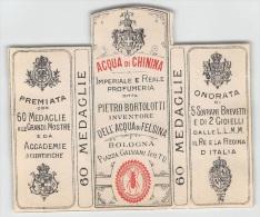 """04864 """"DITTA PIETRO BORTOLOTTI - BOLOGNA - ACQUA DI CHININA"""" ETICHETTA ORIGINALE PER COSMESI. - Etichette"""