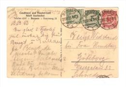 Deutsches Reich Infla 23/12/1923 Reform PC Café Saatweber C.Barmen Nach Göterberg Schweden AM243 - Infla