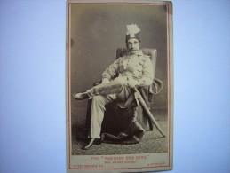 Photo CDV Perse - Iran ? Empire Ottoman - Tuquie ? Inde ? The Padishah Doo Deen - Shah ? Maharajah ? - Anciennes (Av. 1900)