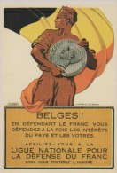 CP - BELGIQUE - Carte  56  Du SOIR - Ligue Nationale Pour La Défense Du Franc. - Evénements