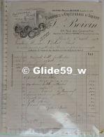 Facture Fabrique D'Orfèvrerie D'Argent - V. BOIVIN - Acquéreur Mon F. Veyrat - Coutellerie Riche - Paris Le 5 Août 1919 - France
