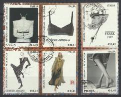 Italia 2002, Design Italiano III Serie (o), Serie Completa - 6. 1946-.. Repubblica