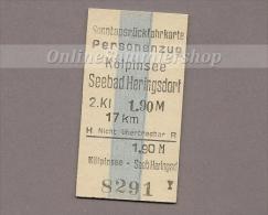 Pappfahrkarte Deutsche Reichsbahn --> Kölpinsee - Seebad Heringsdorf  (Sonntagsrück) - Europa