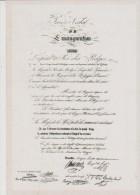 CP - BELGIQUE - Carte  19  Du SOIR - Procès-verbal De La Prestation De Serment De Léopold Ier Le 21 Juillet 1831. - Eventos