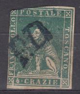 Italy, Toscany, Toscana 1851/1857 4c Green