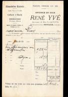 FACTURE  ALIMENTATION GÉNÉRALE ÉPICERIE EN GROS RENÉ YVE  à HONFLEUR 1920 - Alimentare